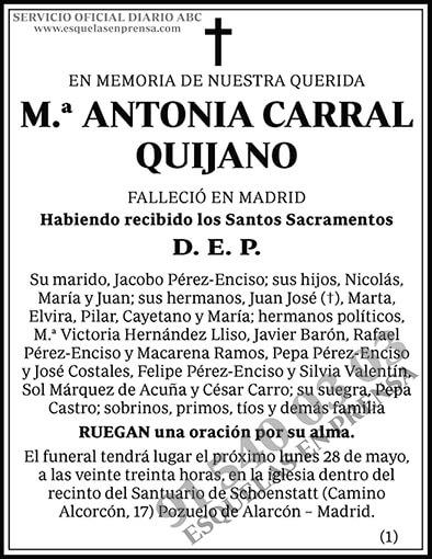 M.ª Antonia Carral Quijano